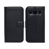 Book Case Ancus Teneo for Samsung SM-G357FZ Galaxy Ace 4 Black TPU