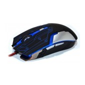 Wired Mouse R-horse RH-1990 Robocop Series 5 Button 3200 DPI Black - Blue (120*70*35mm)