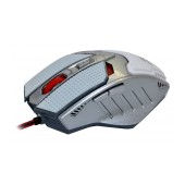 Wired Mouse R-horse FC-1591 Game Series 5 Button 3200 DPI White - Silver (120*80*35mm)