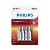 Battery Alkaline Philips PowerLife LR03 size AAA 1.5 V Psc. 4