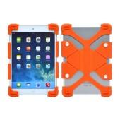 Silicone Case Ancus Universal for Tablet 7'' - 8'' Inches Orange (20 cm x 12 cm)