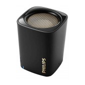 Wireless Portable Speaker Philips BT100B 2W Black with Speakerphone and 3.5mm Audio-in Connector