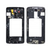 Middle Frame Cover LG K8 K350N with Buzzer, Antenna and Camera Lens White Original ACQ89173501