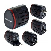 World Travel Adapter Hisense (USB 2, EU, USA, UK, AUS)