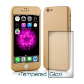 360 Protect Case Ancus for Apple iPhone 6/6S Gold with Tempered Glass Screen Protector 0.20mm