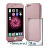 360 Protect Case Ancus for Apple iPhone 6/6S Pink with Tempered Glass Screen Protector 0.20mm