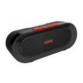 Outdoor Proof Wireless Speaker Bluetooth Jabees beatBOX BI 3W IPX4 Black - Orange with Speakerphone and Audio-in