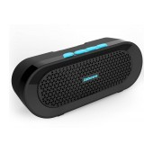 Outdoor Proof Wireless Speaker Bluetooth Jabees beatBOX BI 3W IPX4 Black - Blue with Speakerphone and Audio-in
