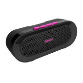 Outdoor Proof Wireless Speaker Bluetooth Jabees beatBOX BI 3W IPX4 Black - Pink with Speakerphone and Audio-in