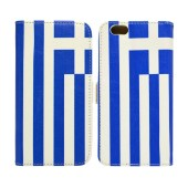 Book Case Ancus Flag Collection for Apple iPhone SE/5/5S Greece