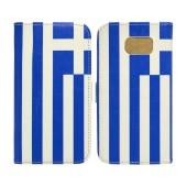 Book Case Ancus Flag Collection for Samsung SM-G920F Galaxy S6 Greece