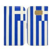 Book Case Ancus Flag Collection for Samsung SM-G930F Galaxy S7 Greece