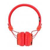 Headphone Stereo NIA Foldable NIA-X2 3.5 mm Red with Bluetooth, Microphone, FM Radio and MP3 Player with Micro SD MC