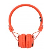 Headphone Stereo NIA Foldable NIA-X2 3.5 mm Orange with Microphone, FM Radio and MP3 Player with Micro SD MC