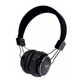 Headphone Stereo NIA Foldable MRH-8809S 3.5 mm Black with FM Radio and MP3 Player with Micro SD MC