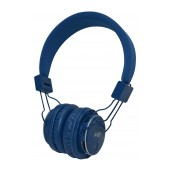 Headphone Stereo NIA Foldable MRH-8809S 3.5 mm Blue with FM Radio and MP3 Player with Micro SD MC