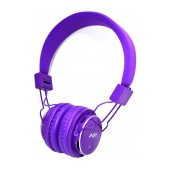 Headphone Stereo NIA Foldable MRH-8809S 3.5 mm Purple with FM Radio and MP3 Player with Micro SD MC