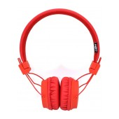 Headphone Stereo NIA Foldable NIA-A1 3.5 mm Red with Microphone for Mobile Phones, Tablet and Electronic Devices