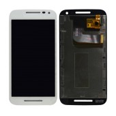Original LCD with Digitizer for Motorola Moto G (2015) XT1540 White without Frame