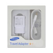 Travel Charger Samsung EP-TA20EWEU White with Detachable Cable MIcro USB for Note 4 2000 mAh Fast Charging