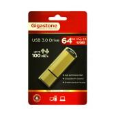 USB 3.0 Gigastone Flash Drive U303 64GB Gold Professinal Series Metal Frame