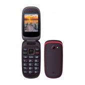 Maxcom MM818 (Dual Sim) with Large Buttons, Radio (Works without Handsfre), and Emergency Button Black-Red