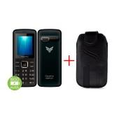 FlameFox Simple1 (Dual Sim) with Bluetooth, Camera, FM Radio, Led Torch GR + Case