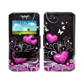 Book Case Ancus S-View Elastic Art Collection Universal for Smartphone 5.3