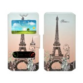 Book Case Ancus S-View Elastic Art Collection for Smartphone 5.7