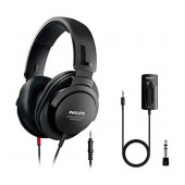Headphones Stereo TV Philips SHP2600TV/10 3.5 mm Black with Adaptor 6.3 mm, In-Line Volume Control and 1 m + 5.2 m cable for Sound Device