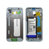 Middle Frame Cover Samsung SM-A520F Galaxy A5 (2017) with Battery and On/Off. Volume Buttons Blue Original GH82-13664C