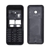 Front Cover Nokia 222 with keyboard Black OEM