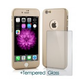 360 Protect Case Ancus for Apple iPhone 7 Gold with Tempered Glass Screen Protector 0.20mm