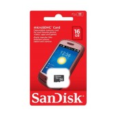 Flash Memory Card SanDisk MicroSDHC 16GB Class 4