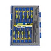 Screwdrive Kinzo 56410 Set 12 Pcs Magnetic with Tweezers