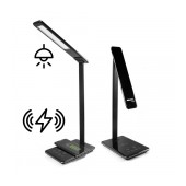 Desktop LED Lamp Jabees Q9 with Wireless Charger, Brightness & Color Temperature Adjustable Black