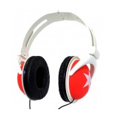 Star Foldable Stereo Headphone 3.5 mm Red for mp3, mp4 and Sound Devices Polybag