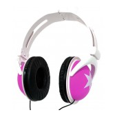 Star Foldable Stereo Headphone 3.5 mm Pink for mp3, mp4 and Sound Devices Polybag