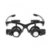 Magnifying Headlamp 9892GJ 10x, 15x, 20x, 25x with Led in Eyeglass Frame