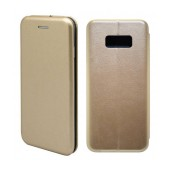 Book Case Ancus Magnetic Curve for Samsung SM-G955F Galaxy S8+ TPU Gold