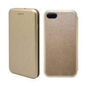 Book Case Ancus Magnetic Curve for Apple iPhone 7 TPU Gold