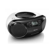 Philips USB MP3-CD Soundmachine AZ330T/12 4W Black with Bluetooth, USB Port and Audio-in